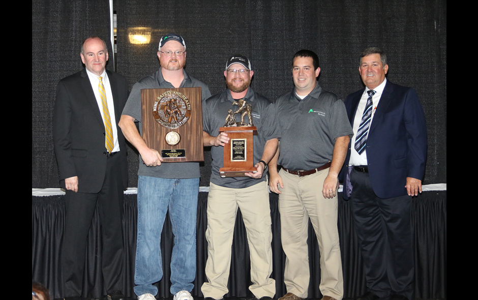 1st Place First Aid Alpha Natural Resources Southern WV Team #1 Adam Sipes, Capt on stage