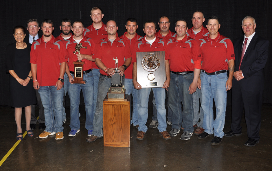 1st Place Mine Rescue overall - Wellmore Coal Co - Red Team - 1