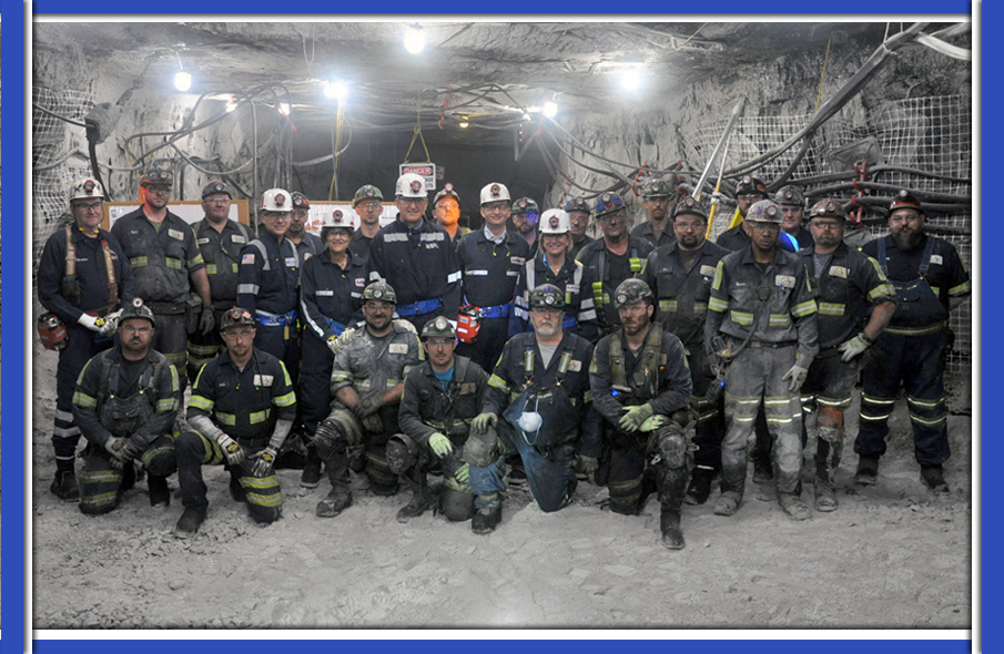 U.S. Labor Secretary Alexander Acosta visits miners in West Virginia.