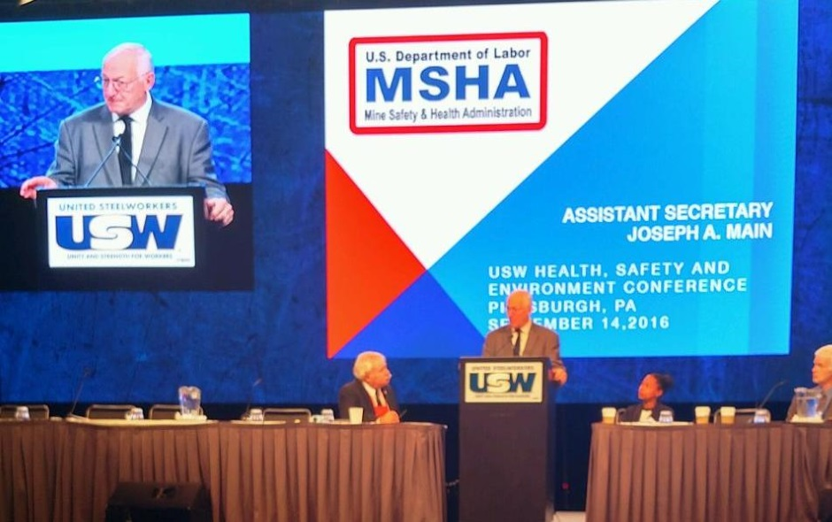 Assistant Secretary Main addresses the USW conference