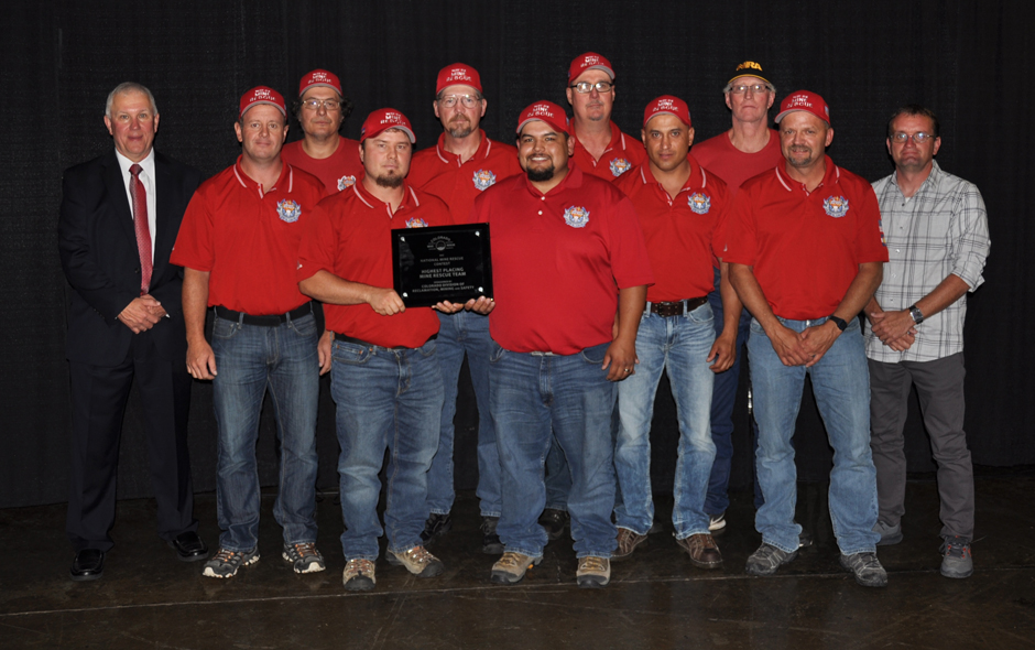 State Awards Colorado - Mine Rescue - Mt Coal Co West Elk Red - Pat Matheson - Capt