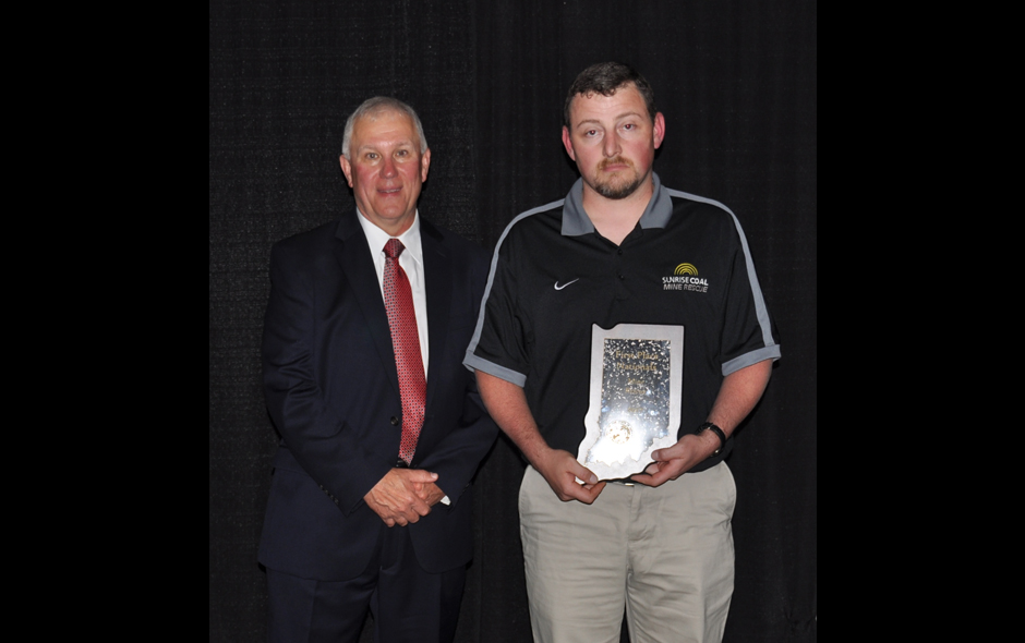 State Awards Indiana - Mine Rescue - Sunrise Coal - Cory Baker, Capt