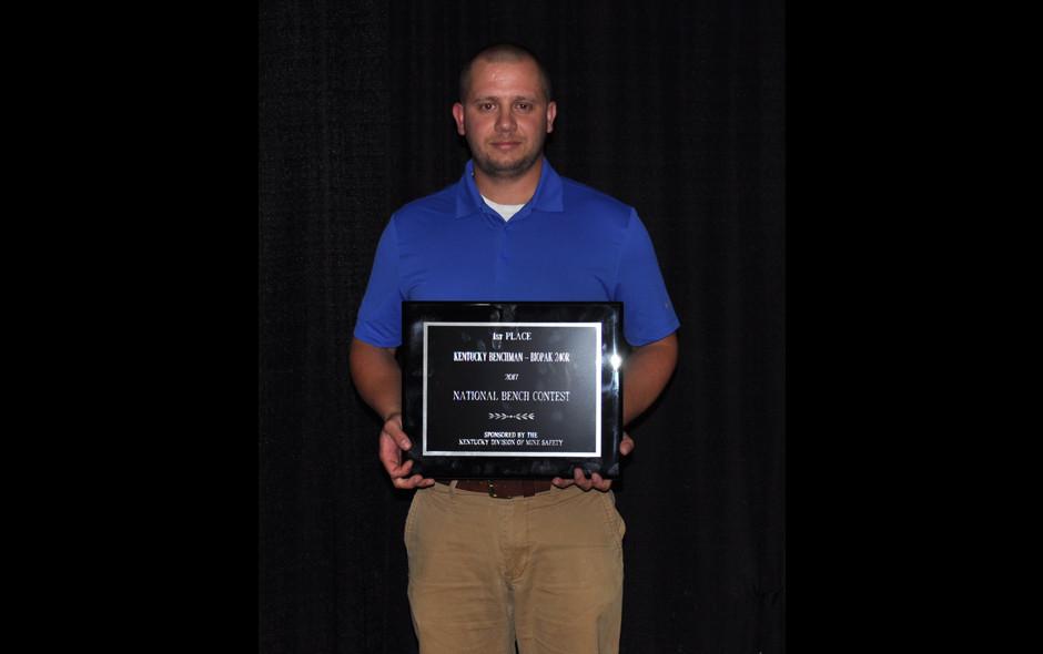 State Awards Kentucky - BioPak 240R - Kentucky Coal Academy MCC Team - Taber Tichener - 1