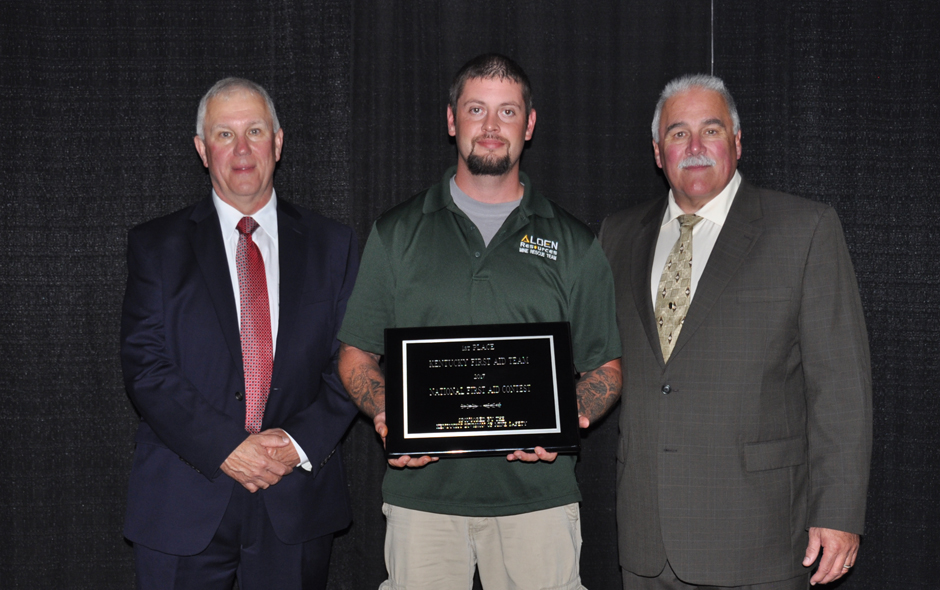 State Awards Kentucky - First Aid - Alden Resources LLC - Bryan Lewis, Capt