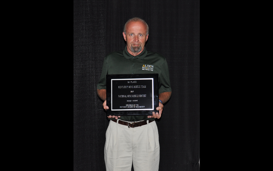State Awards Kentucky - Mine Rescue - Alden Resources LLC - Fred Shannon, Capt - 1