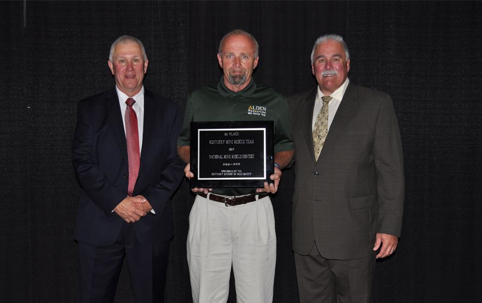 State Awards Kentucky - Mine Rescue - Alden Resources LLC - Fred Shannon, Capt