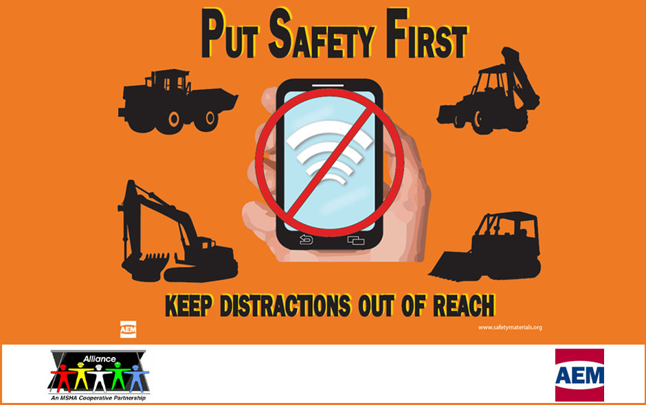 Prevent accidents due to distracted operation of mobile equipment