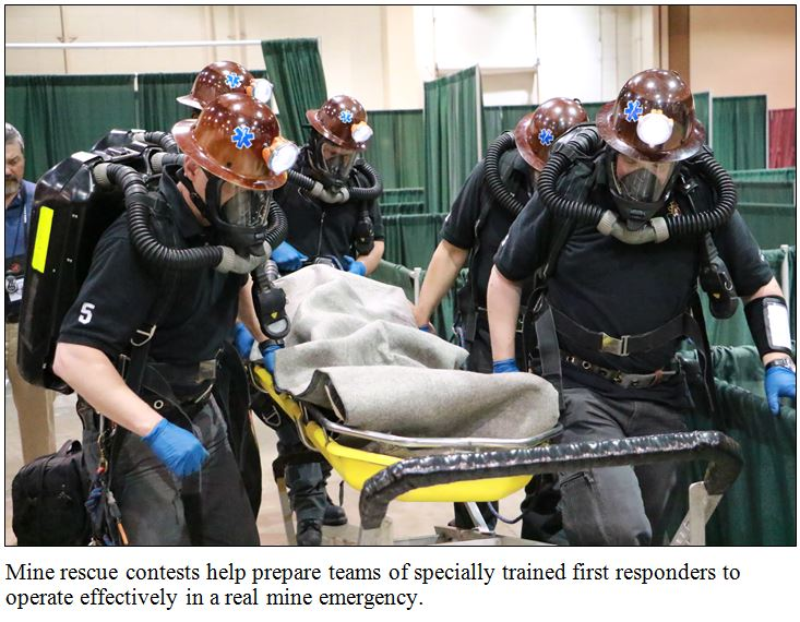 image of the national mine rescue competition