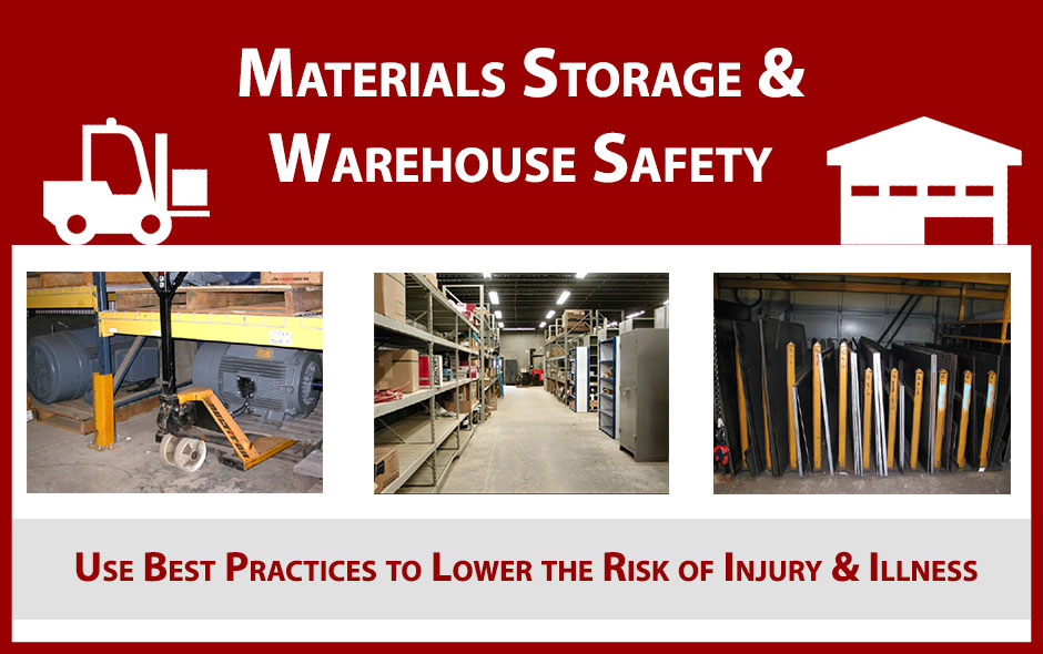materials storage and warehouse safety best practices