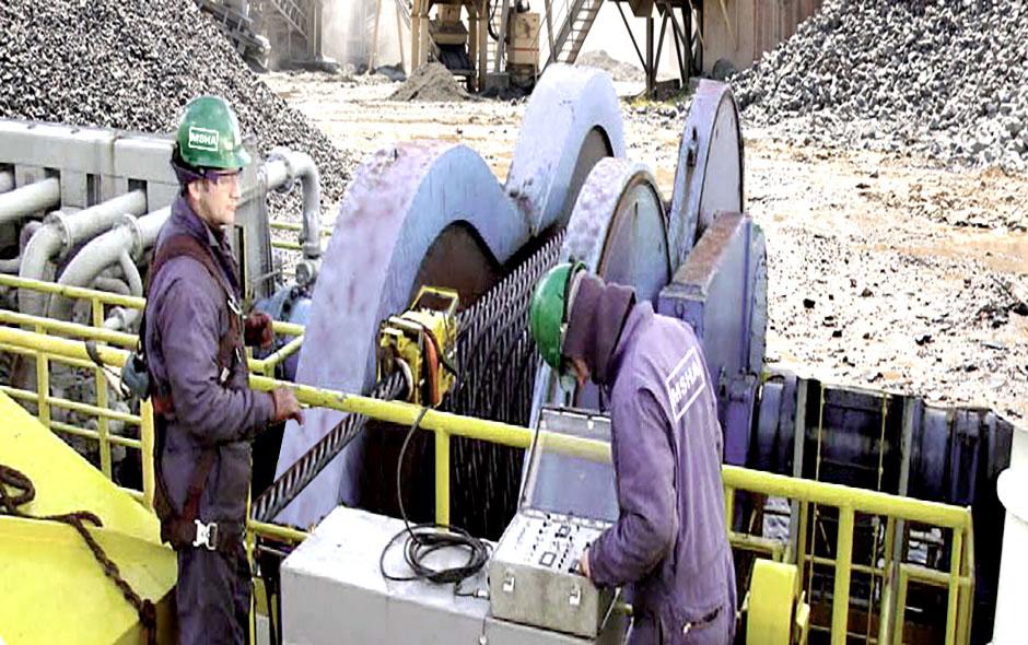 NDT wire rope examination safety alert
