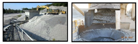 These confined spaces included a sand and gravel bin, a sand-filled hopper, and a cone crusher. All three miners were engulfed by falling material.
