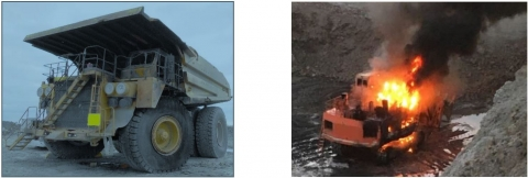 MSHA urges all mine operators and miners to be aware of fire hazards on surface mine equipment and to follow the safety practices