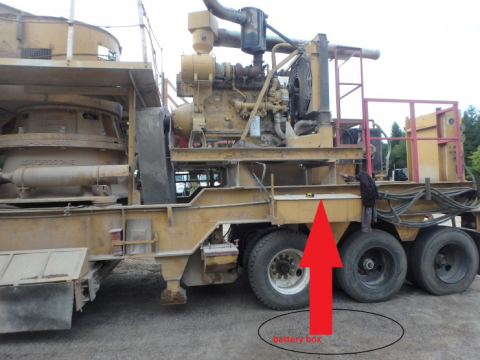 diagram of cone crusher indicating where miner fell from
