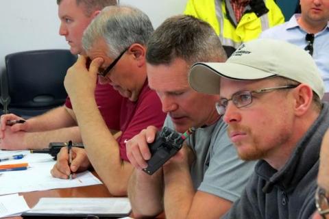 Men at mining conference