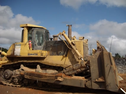 stationary bulldozer