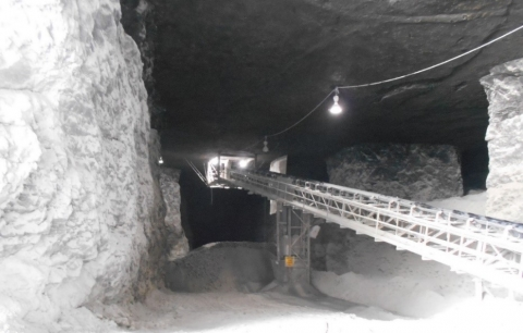 Accident scene where the steel pipe slid out of place and struck one of the miners in the head and back. The miner died on May 23, 2020, due to complications from his injuries.