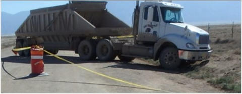 accident scene where a contract truck driver with 20 years of experience was fatally injured while operating a haul truck.