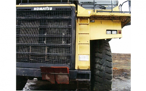 the ladder shown on the front of the truck