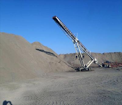 150-foot stacker belt conveyor