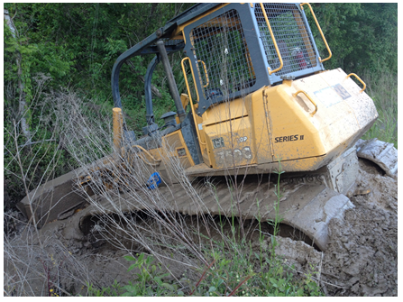 The dozer that the victim had been operating