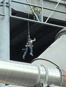 MNM serious accident alert Plant - Fall Protection