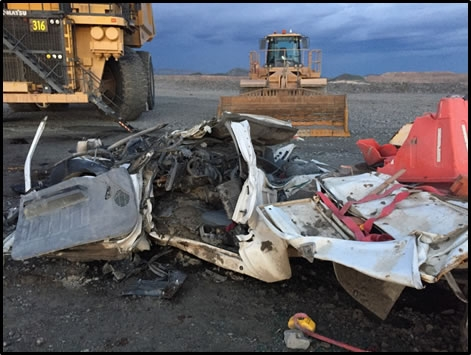 Photo of Accident Scene Described in the Paragraph Above