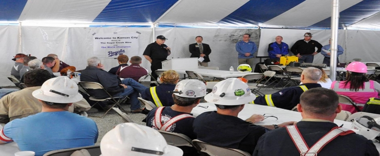 MSHA Assistant Secretary Joseph Main thanks mine rescue teams for their hard work and dedication.