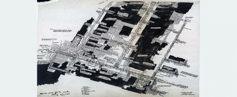 Explosion map of 1923 disaster in Stag Canon No. 1