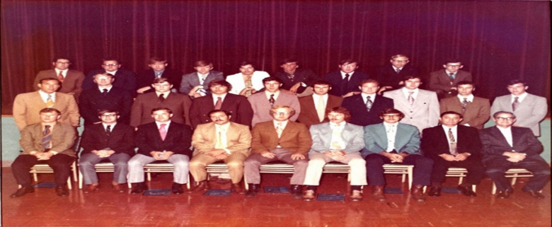 First graduating class of inspectors from Beckley Training Center - 1972