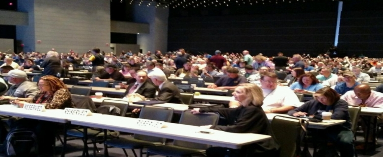 Attendees at USW conference